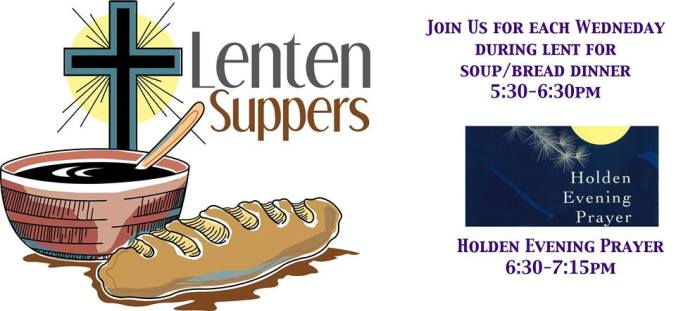 Midweek Lenten suppers at Hope Lutheran Church in Bozeman MT